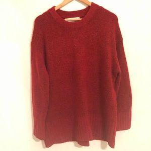 Zara Knot Red Sweater